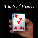 3 to 5 of Hearts