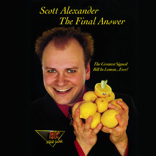 The Final Answer - Bill in Lemon (Gimmick and Online Instructions) by Scott Alexander