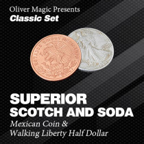 Superior Scotch and Soda (Double Locking, Walking Liberty Half Dollar) by Oliver Magic - Classic Set