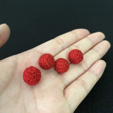Mini Crochet Ball (Red, 1.2cm)