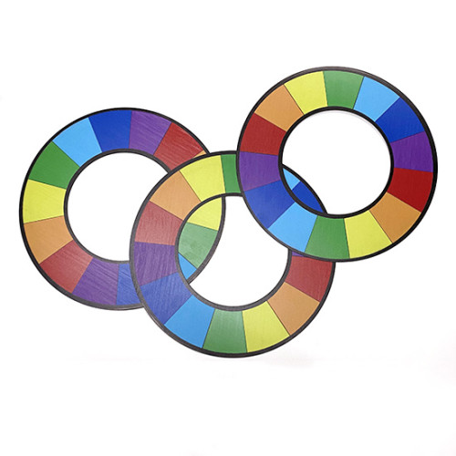 Plastic Rainbow Rings (Large)