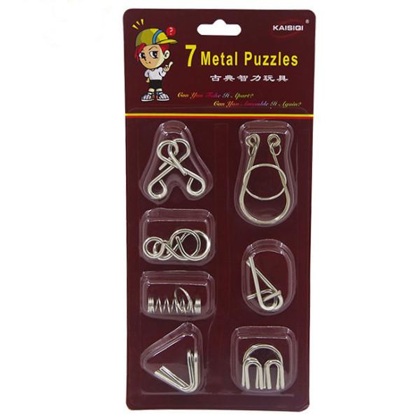 Cast Metal Puzzle Set (Pack of 7)