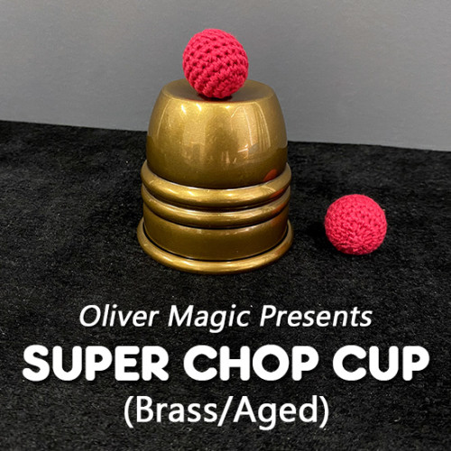 Super Chop Cup (Brass/Aged) by Oliver Magic