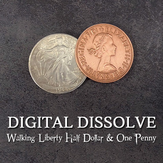 Digital Dissolve (Walking Liberty Half Dollar)