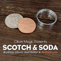 Scotch & Soda (Walking Liberty Half Dollar) by Oliver Magic