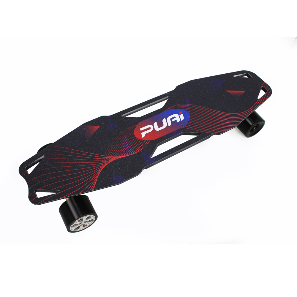 Puai electric skateboard with LED light handle removable motor