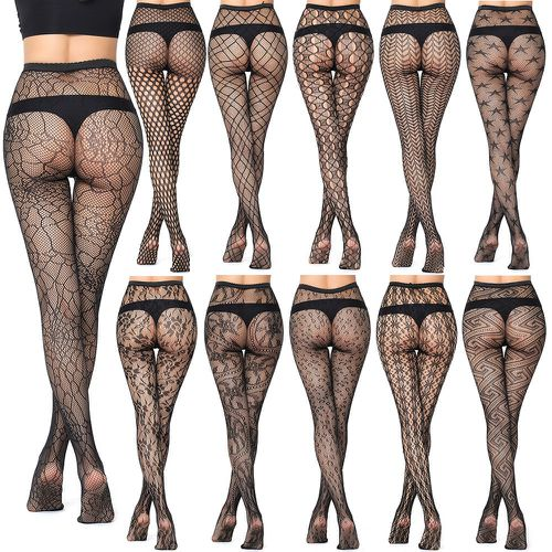 b34c39a35ae Women Hollow Out Pantyhose Sock Female Mesh Black Tights Stocking Slim  Fishnet Stockings Club Party Hosiery