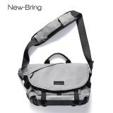 NewBring Messenger Bag for Men and Women Crossbody Waterproof with Water Bottle Pocket Shoulder Bag for 14 and 15 Inch Laptop (Rock Gray)