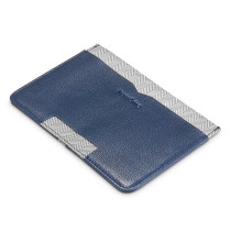 NewBring Genuine Leather Wallet Thin Men with Multifunction Mini ID Wallet Women Money Credit Card Purse Male Card Holder, Blue