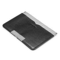 NewBring Genuine Leather Wallet Thin Men with Multifunction Mini ID Wallet Women Money Credit Card Purse Male Card Holder, Black