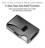 NewBring Slim Metal Credit Card Holder With RFID Anti-chief Travel Mini Wallet Man for rfid wallet, Black