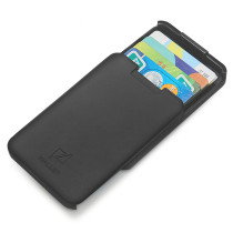 NewBring Automatic Pop Up RFID Blocking Credit Card Holder Slim Wallet, Front Pocket Card Case Holder, Black