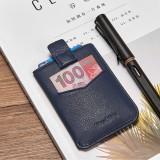 NewBring Men's Leather Billfold Wallet Slim Card Holder Front Pocket Minimalist Wallet, Blue