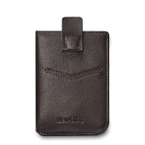 NewBring Men's Leather Billfold Wallet Slim Card Holder Front Pocket Minimalist Wallet, Brown
