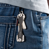 New-Bring Compact Key Organizer and Keychain Key Holder, Gray
