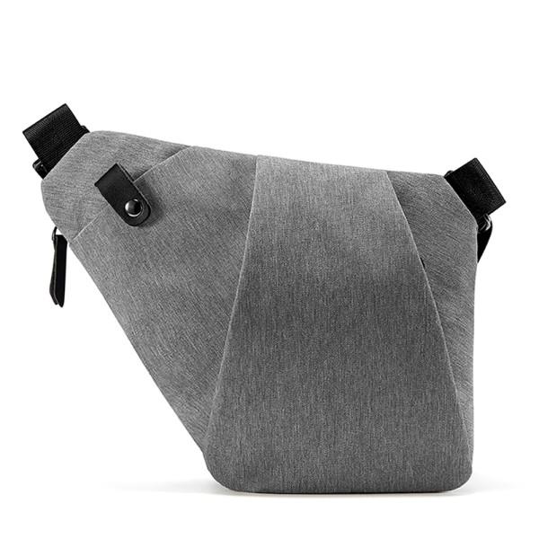 NewBring Shoulder Bags for Men Waterproof Nylon Crossbody bags Male Messenger Bag Casual Travel Handbags,  Gray