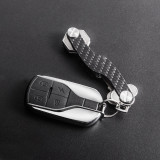 New-Bring Key Organizer S Shape Compact Smart Key Keychain Fit up to 10 Keys, carbon fiber