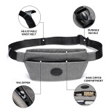 New-Bring Fanny Pack for Men and Women Waterproof Waist Bag Bum Bag with Hidden Pockets Travel Sport Sling Bag (Gray)