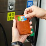 NewBring Genuine Leather Drivers License Holder for Wallet Slim, Orange