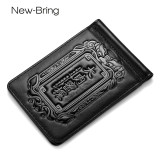 NewBring Genuine Leather Drivers License Holder for Wallet Slim, Black