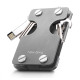 NEW-BRING | Multifunction Metal Key Holder and Credit Card Money Clip Wallet, Gray