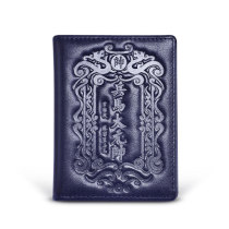 New-Bring Drivers License Card Holder RFID Blocking Mens Leather Wallet for Credit Cards and Cash with ID Window, Blue