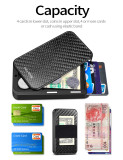 NewBring Slide Open Credit Card Holder Wallet for Men and Women/Slim Minimalist Front Pocket RFID Wallet with Band as Money Clip