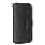NewBring Key Holder Genuine Leather Housekeeper Key Wallet Money Car Key Organizer Keychain Pouch With Card Slot For Long Key, Black