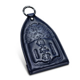 New-Bring Leather Key Organizer with Keychain for Men and Women Key Holder, Blue