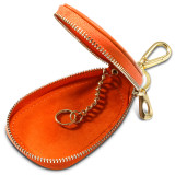 New-Bring Car Case Wallet with Keychain Leather Car Key Fob Holder for Men and Women, Orange