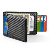 New-Bring Slim Leather Wallet for men RFID Blocking Minimalist Credit Card Holder, Carbon Fiber