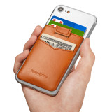 New-Bring Card Holder for Back of Phone for Credit Card, Business Card & Id / Stick On Wallet Card Holder, Orange