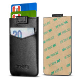 New-Bring Card Holder for Back of Phone for Credit Card, Business Card & Id / Stick On Wallet Card Holder, Black