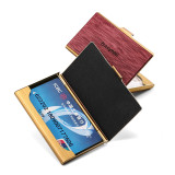 New-Bring Professional Business Card Holder Slim Pocket Business Card Case Wallet for Men and Women Leather Cover Metal Case (5)