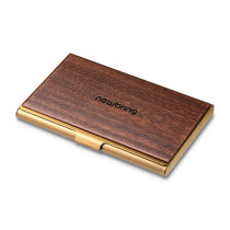 New-Bring Professional Business Card Holder Slim Pocket Business Card Case Wallet for Men and Women Leather Cover Metal Case (3)