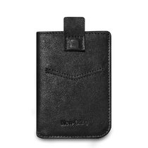 NewBring Men's Leather Billfold Wallet Slim Card Holder Front Pocket Minimalist Wallet, Black