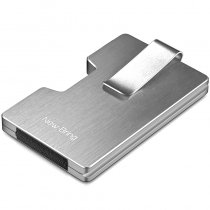 NewBring Metal Credit Card Holder With RFID Anti-theft Wallet Integration Design Female And Male Money Purse, Silver