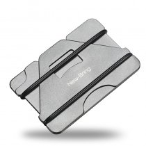 NEW-BRING Metal Credit Card Holder and Slim Money Clip Wallet, Gray