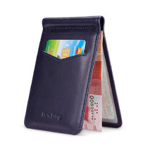 NewBring Genuine Leather Drivers License Holder for Wallet Slim, Blue