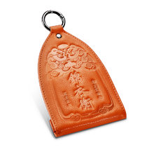 New-Bring Leather Key Organizer with Keychain for Men and Women Key Holder, Orange