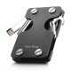 NEW-BRING | Multifunction Metal Key Holder and Credit Card Money Clip Wallet, Black