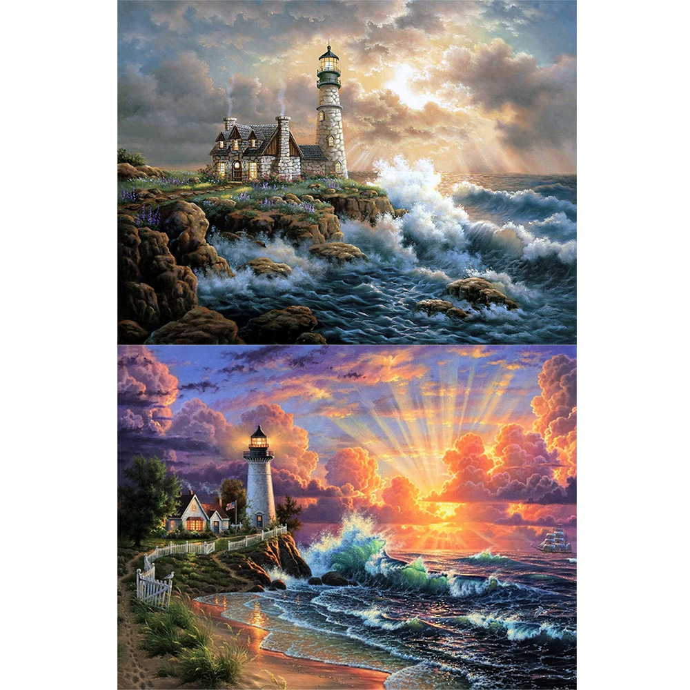 2 Packs 5D DIY Diamond Painting--Lighthouse