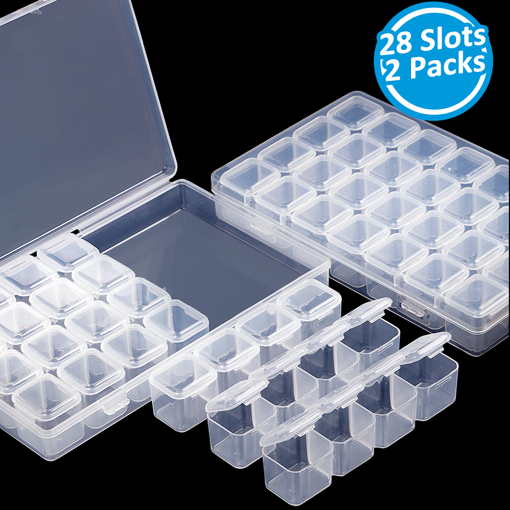 2 Packs 28 Slots Diamond Painting Embroidery Box