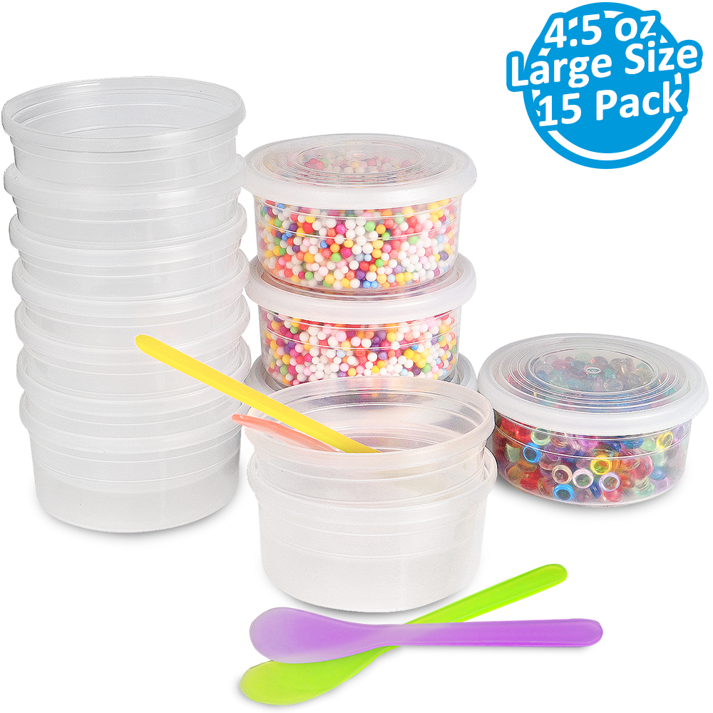 15 pack Slime Containers 4.5 Ounce