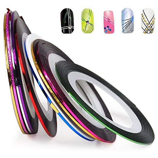 10 Colors Pretty Sticker Rolls Striping Tape Line For Decoration Nail Art