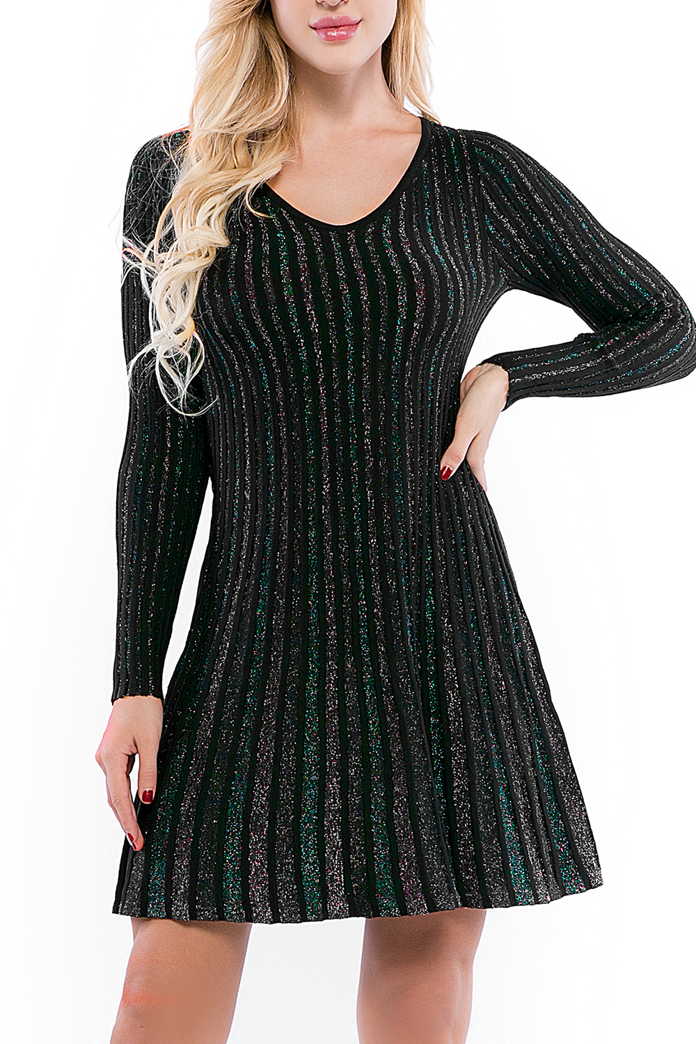 Glitter Bodycon Stretchy Party Dress