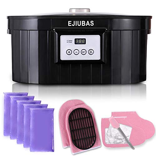 Paraffin Wax Machine for Hand & Feet 5000ml Ejiubas Paraffin Wax Bath Paraffin Wax Warmer Moisturizing Kit Auto-time & Keep Warm Paraffin Hand Wax Machine