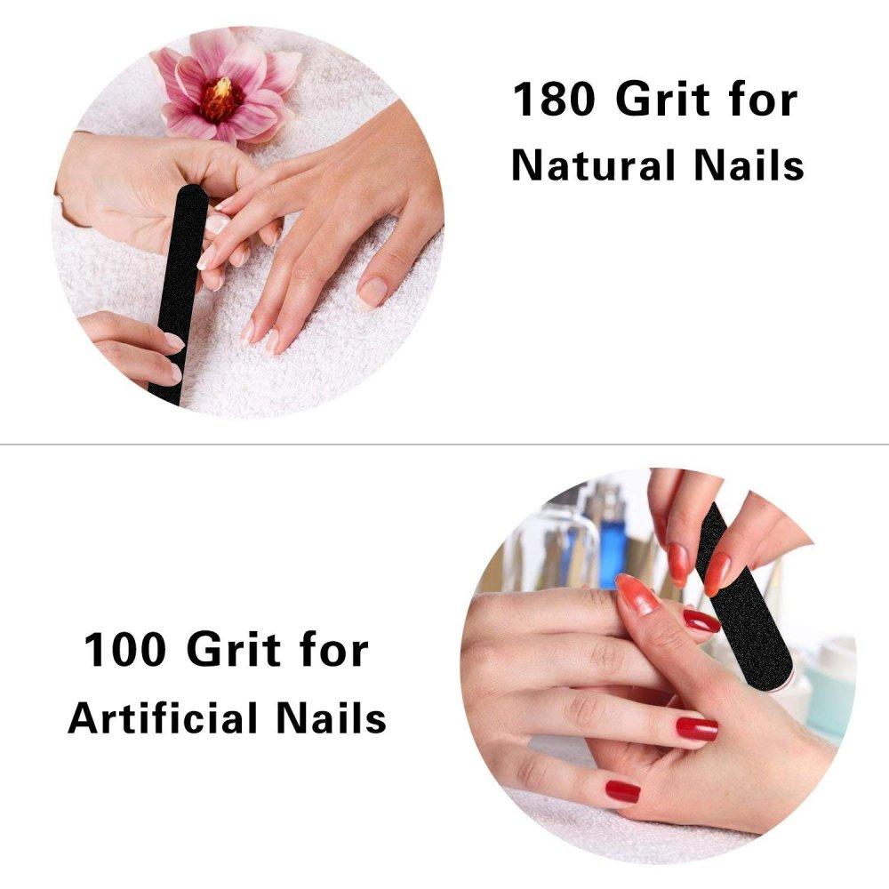 Nail Files And Buffers Set - 7PCS Arylic Gel Nail Builder Brushes ...