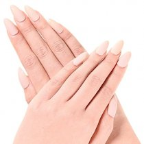 Ejiubas Newest Arrival 24 Pcs Flesh Color Matte with glossy Finish Full Cover Talone Medium False Nail Tips (Nude color)