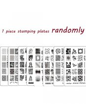 1 Pcs Stamping plate randomly